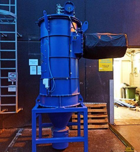 Extraction de poussière d'aluminium