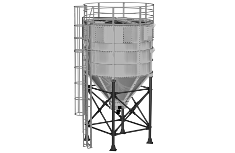 Silo cylindrique